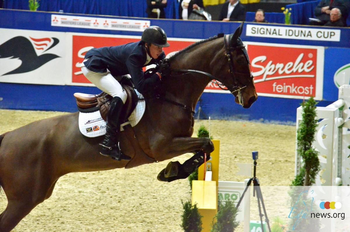 Pieter Keunen knap derde in 7jarige paarden in Sentower Park