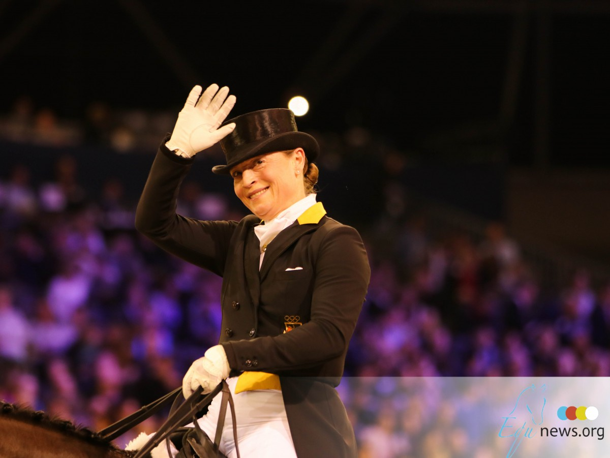 Isabell Werth stays in the lead of FEI Dressage Ranking