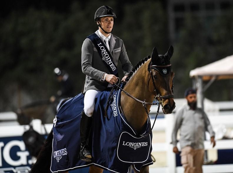 Kristaps Neretnieks and Moon Ray (Cornet Obolensky) win Al Shira'aa Grand Prix