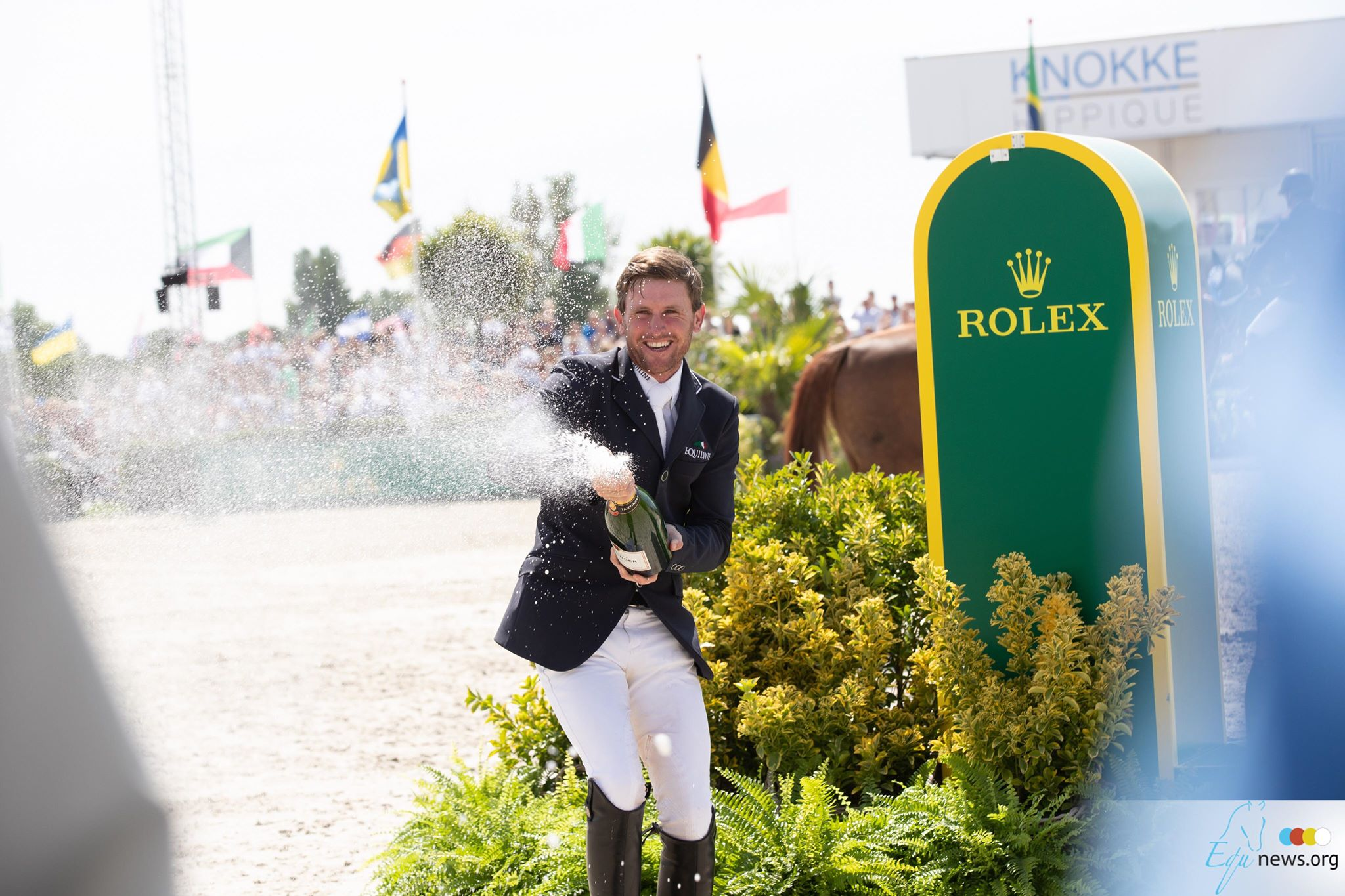 Thrilling showdown between Simone Blum and Darragh Kenny in Rolex Grand Prix Knokke