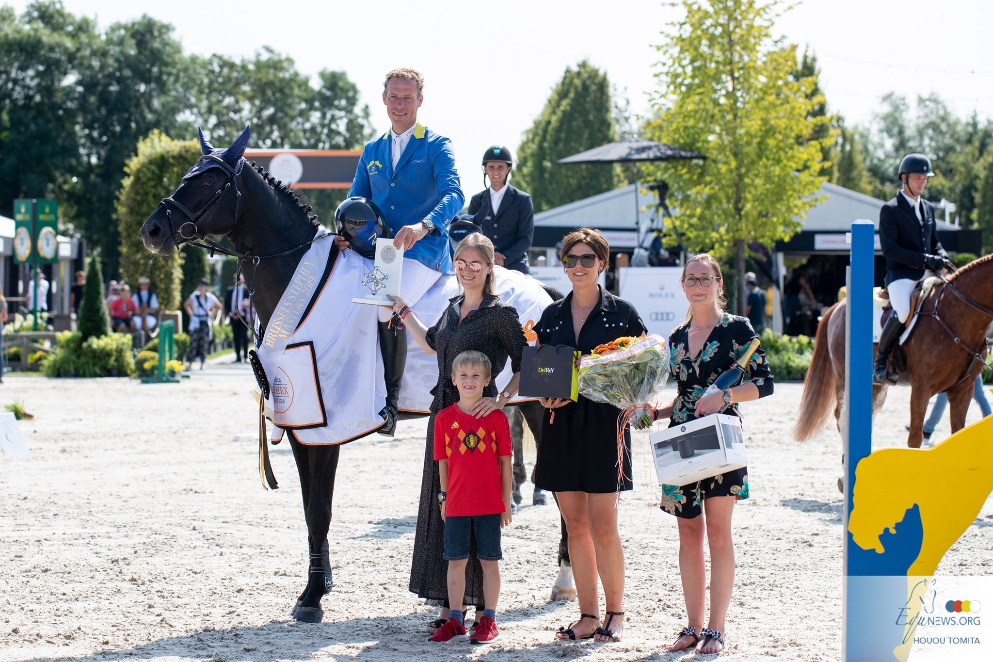Gregory Wathelet meilleur Belge dans la section Young Horses du Stephex Masters