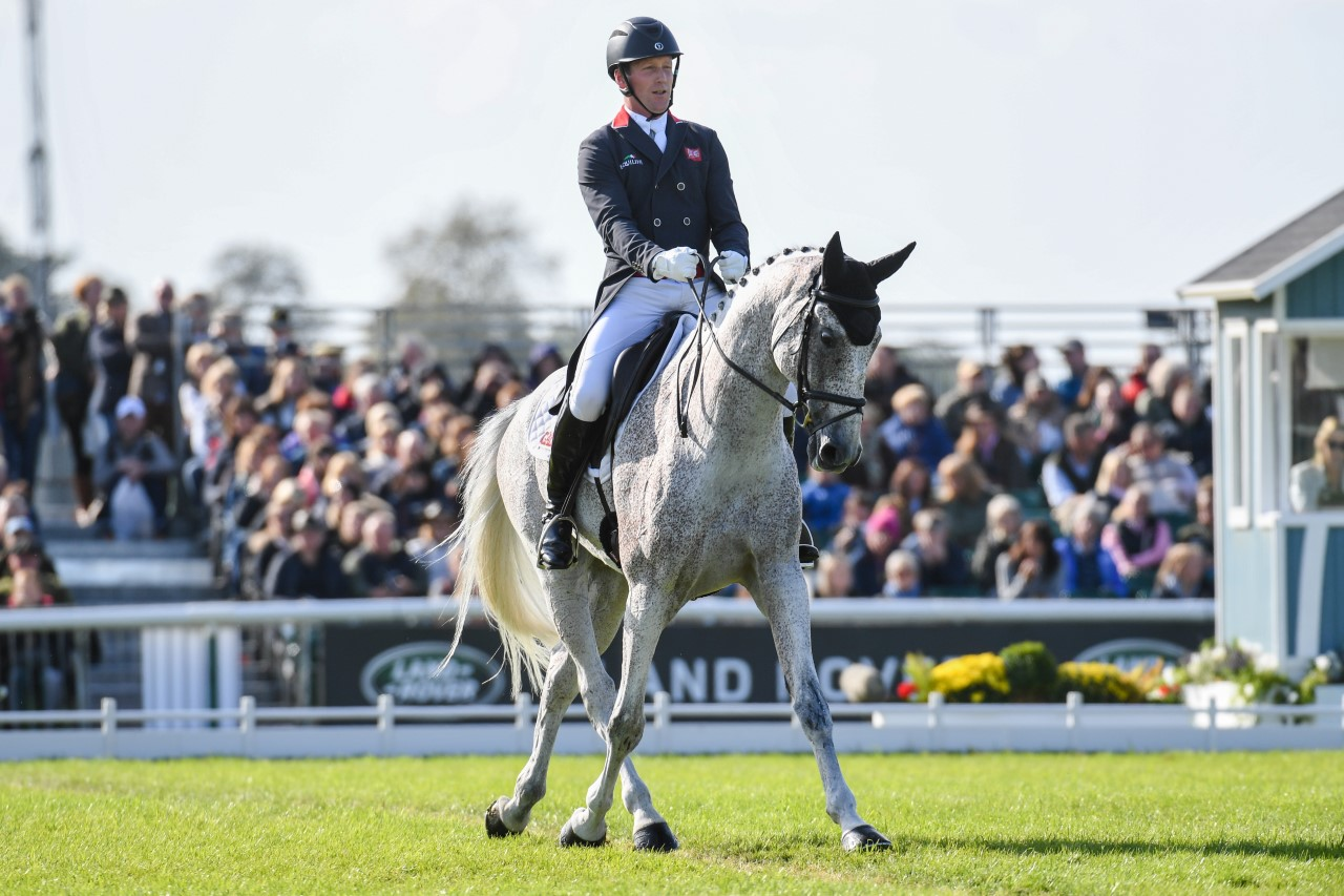 A calming word is all it took for Izzy Taylor to storm into the top three rankings at the 2019 Land Rover Burghley Horse Trials