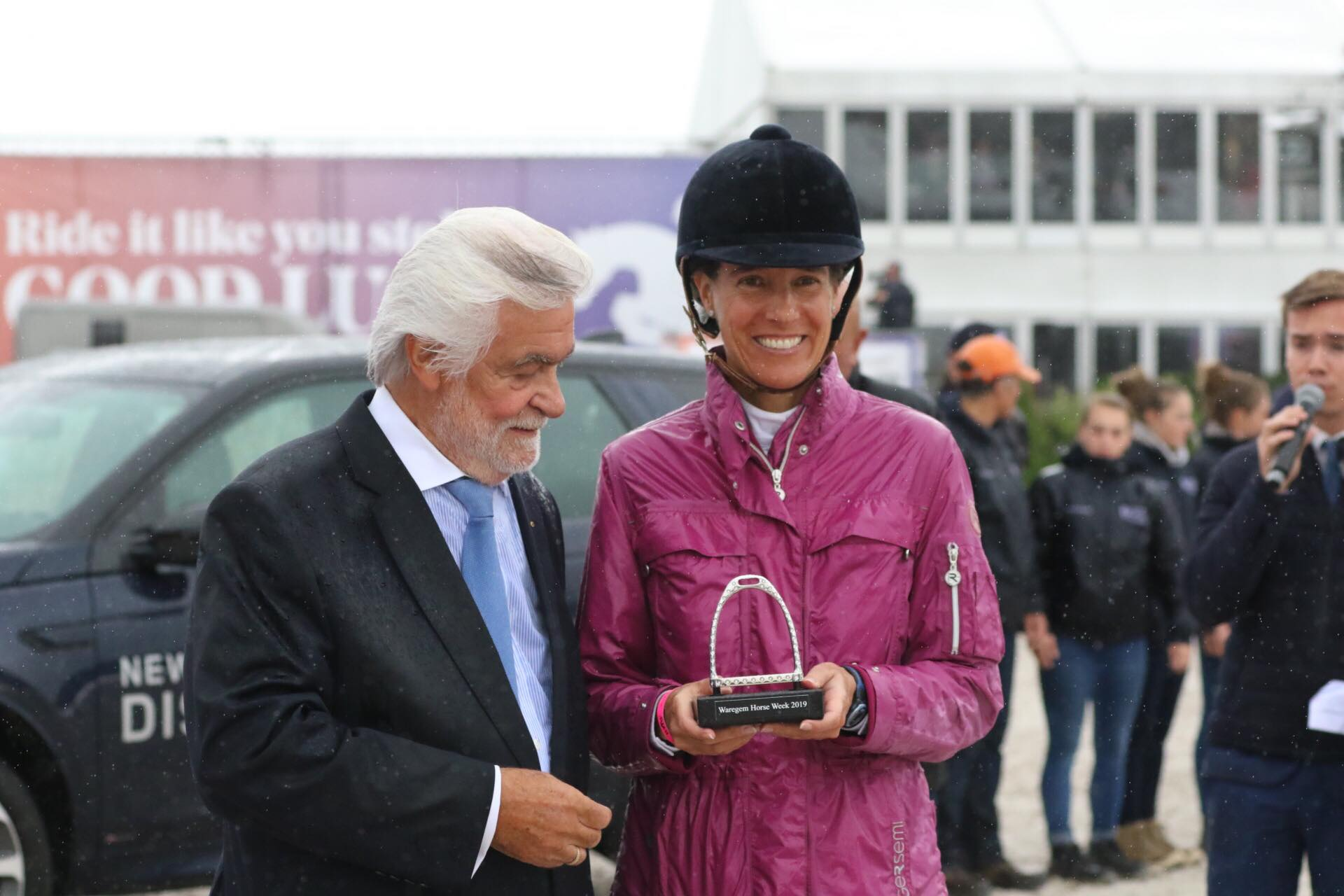 Diamond stirrup for Luciana Diniz in Waregem