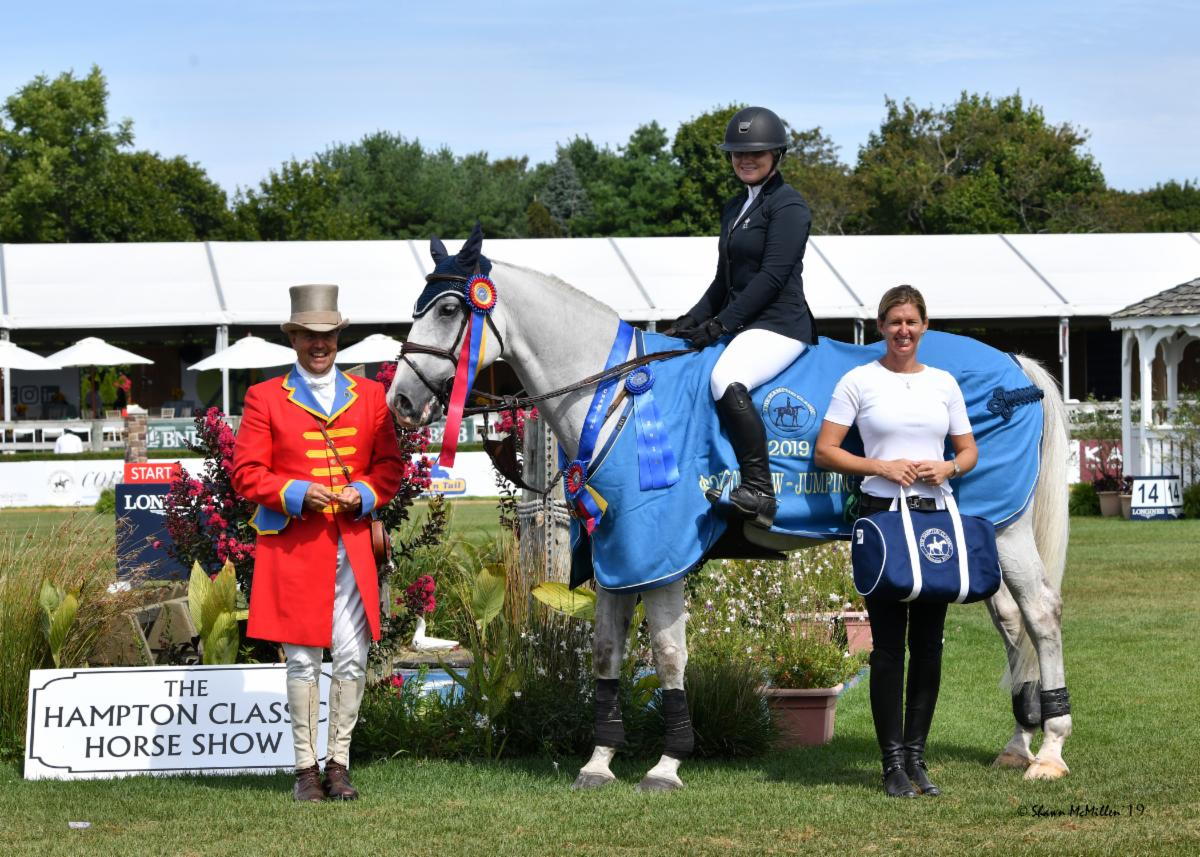 Bronte Gray-Rochon Wins the $25,000 Show Jumping Hall of Fame  Show Jumping Derby at the 44th Hampton Classic Horse Show