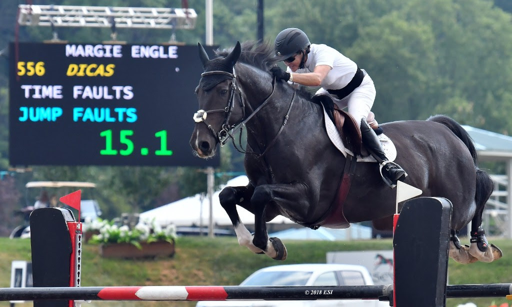 MArgie Goldstein Engle speeds to victory in the CSI5* Grand Prix of HITS Saugerties