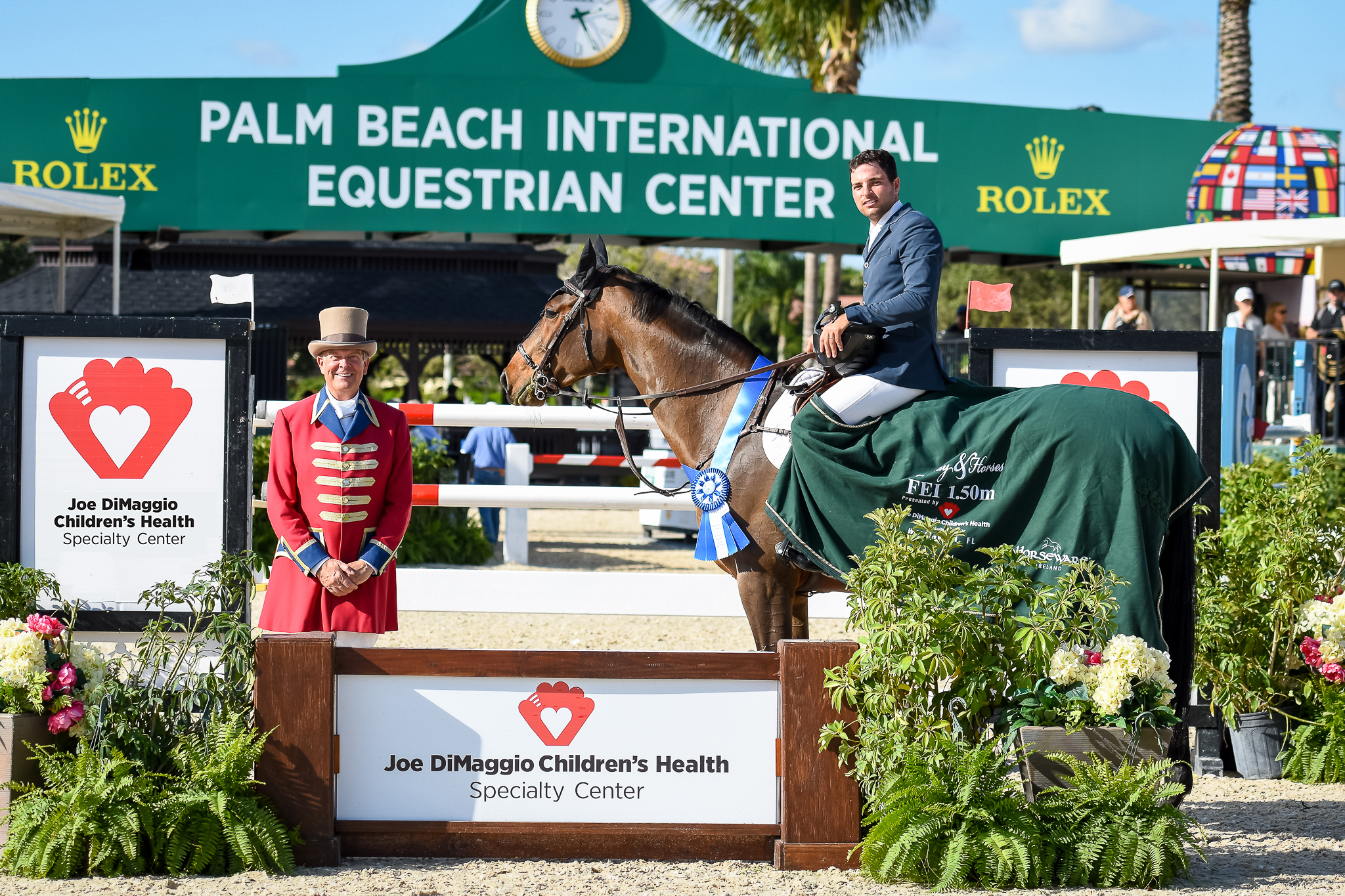 Daniel Bluman Races To First In  1.50m Qualifier Aboard Colestina H at Wellington.