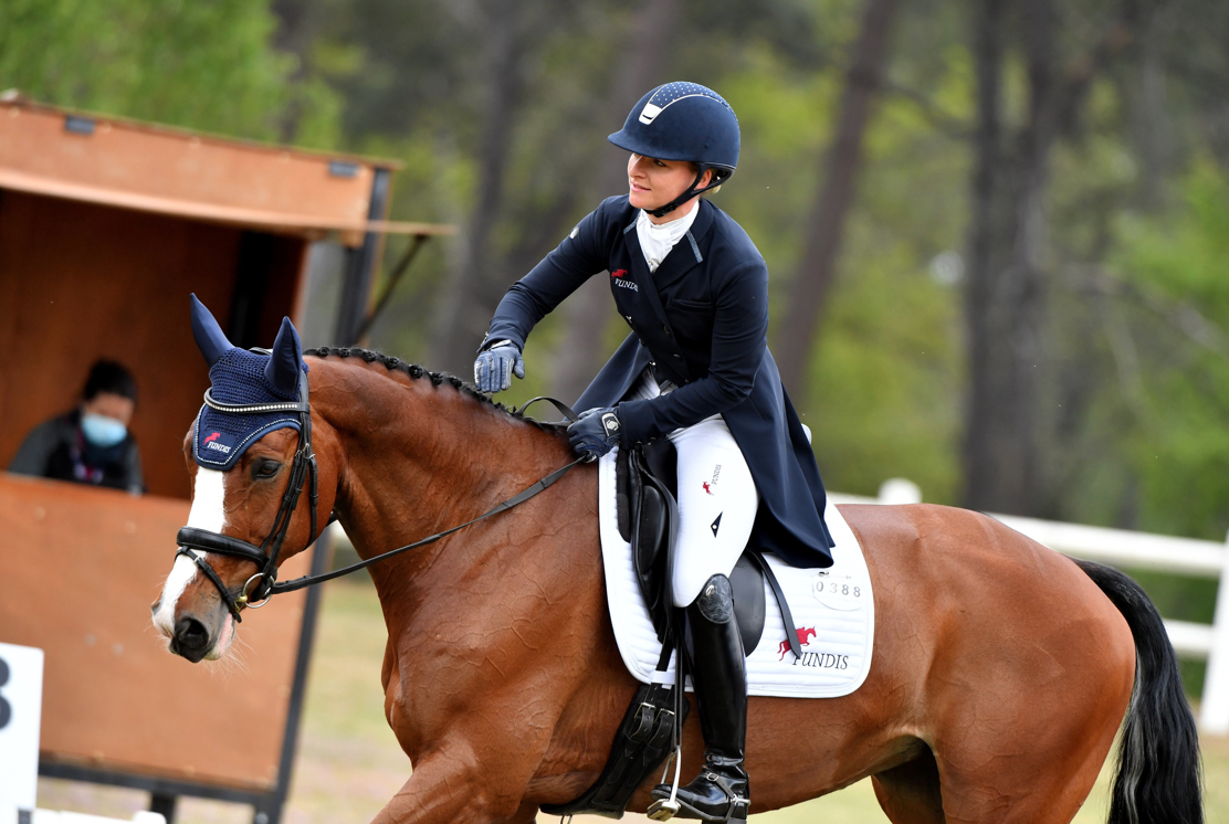 Germany's Julia Krajewski in the lead after dressage test of the CCI 4*-L Equi Action