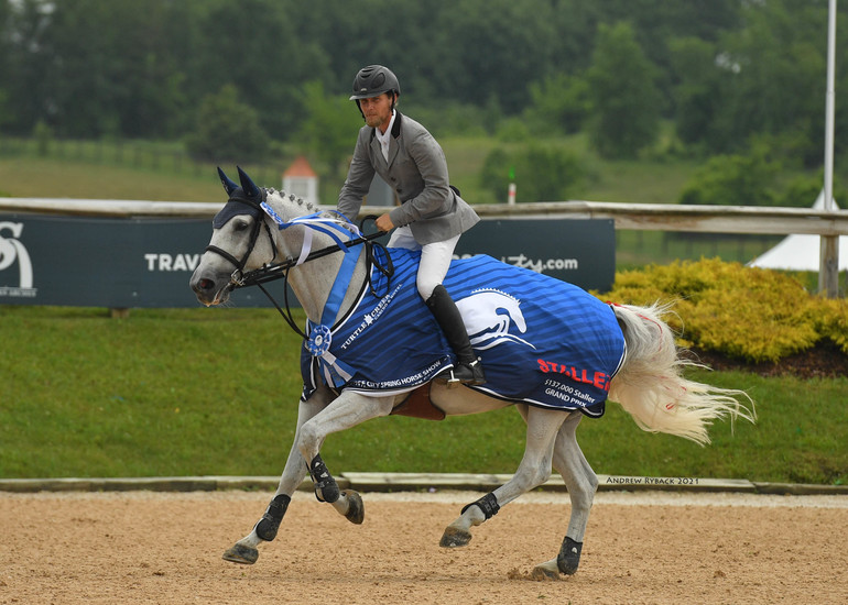 Karl Cook and Caillou 24 claim $137,000 Staller Grand Prix CSI3* title at Traverse City Spring Horse Show