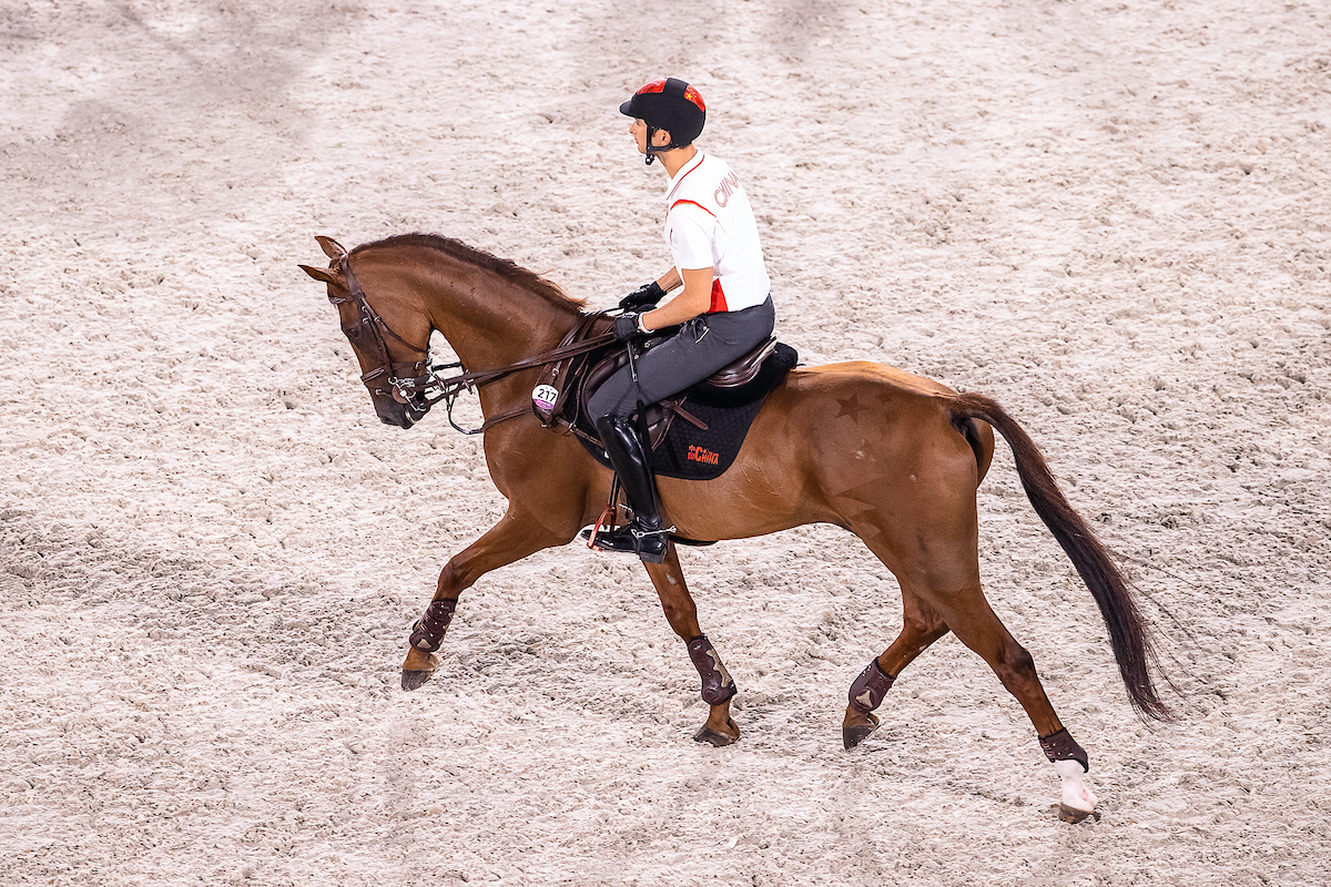Behind the scenes: Eventing warm-up in Tokyo
