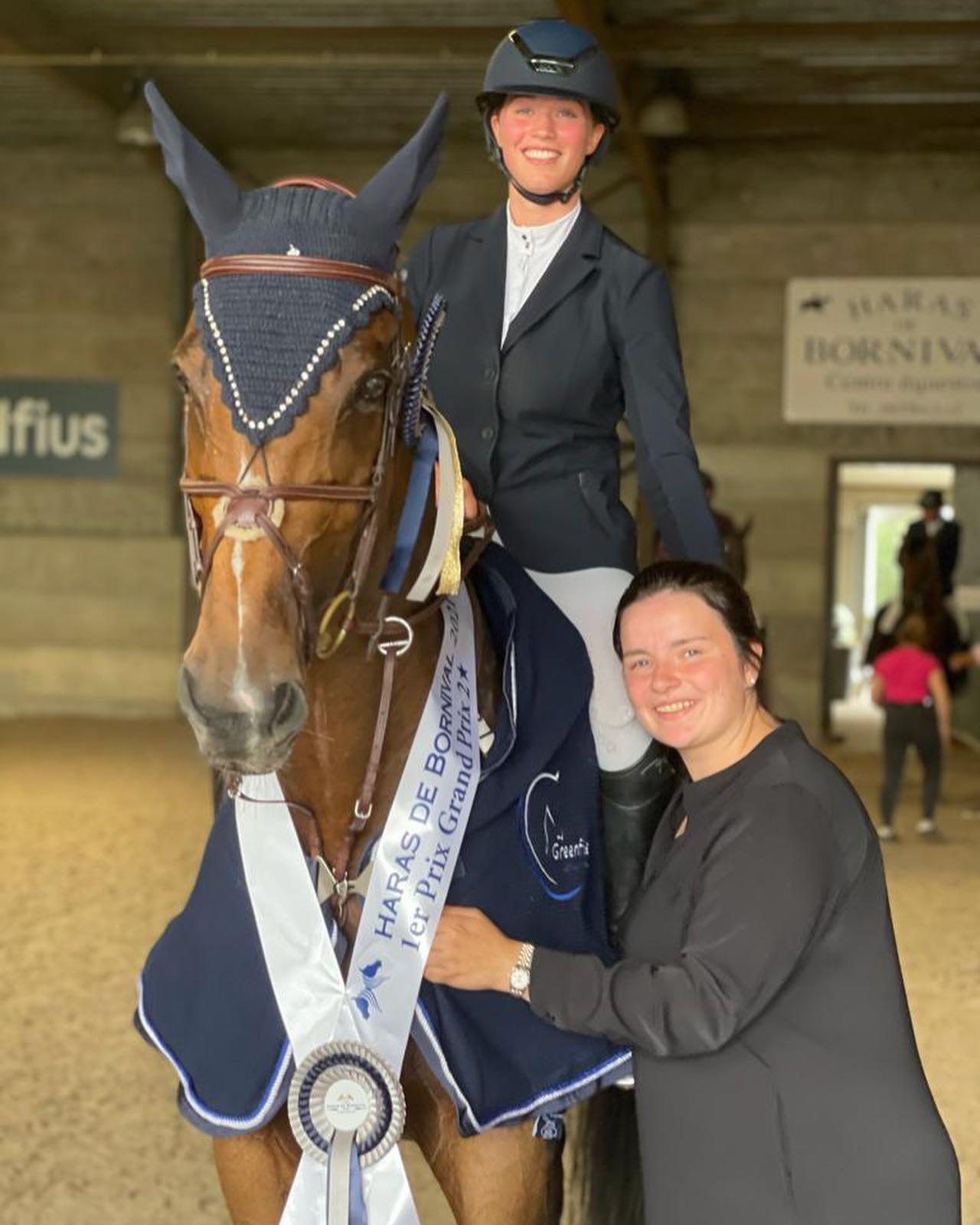 Marthe Heudens neemt afscheid van Grand Prix winnaar Linguini de la Pomme