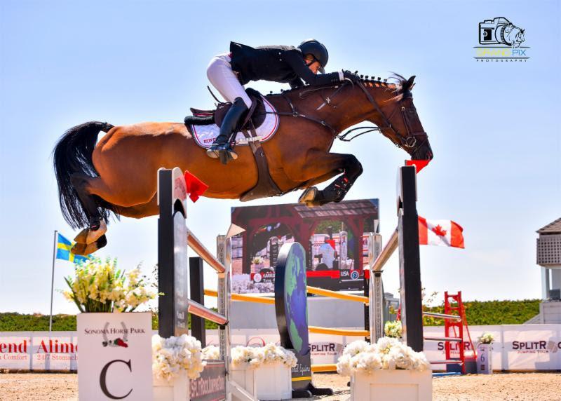 Rufer rules the $100,000 CSI2* Grand Prix at Split Rock Jumping Tour's Sonoma International