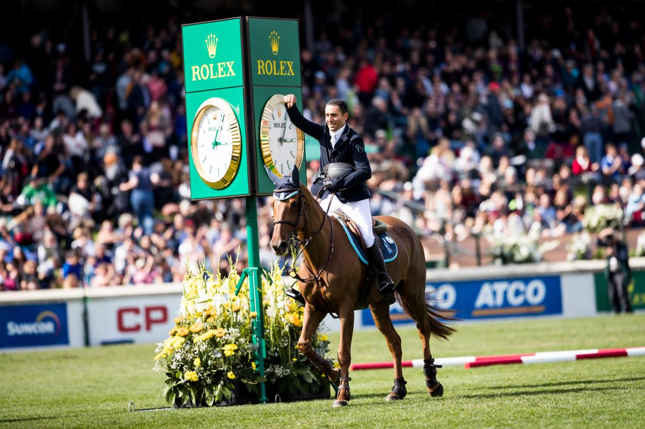 SAMEH EL DAHAN (EGY) RIDING SUMA'S ZORRO WINS THE CP 'INTERNATIONAL', PRESENTED BY ROLEX AT THE CSIO SPRUCE MEADOWS 'MASTERS'