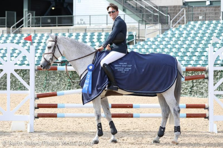 Andrew Ramsay and California 62 claim fastest round to win Welcome Speed at Kentucky Spring Horse Show