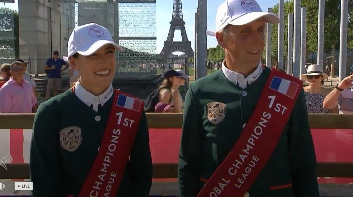 Ireland's Shane Breen and Jessica Springsteen (USA) show them who's boss as they rock to victory in Paris
