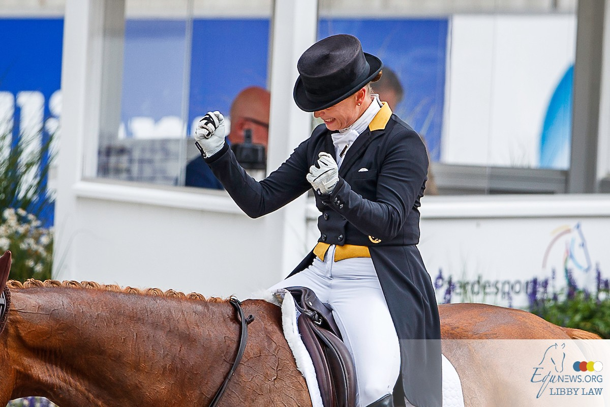 The queen of dressage outdid herself with monster score in Aken