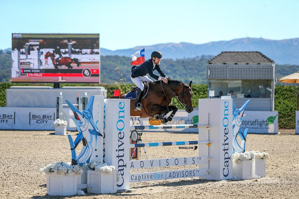Cook Zooms to the Win in the $36,000 CaptiveOne FEI 1.45m Welcome Class at Split Rock Jumping Tour's Sonoma International CSI2*