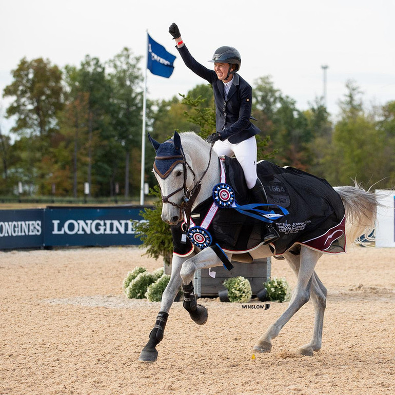 Uma O'Neill rides to the win in the CaptiveOne FEI 1.45m Welcome Class at Split Rock Jumping Tour's Columbus International