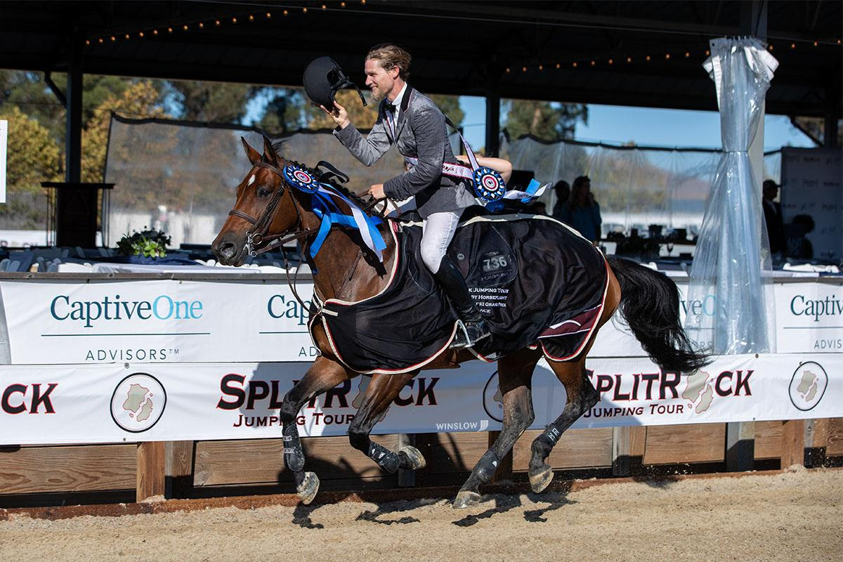 Cook Flies Home in the $100,000  Grand Prix  at Split Rock Jumping Tour's Sonoma International CSI2*
