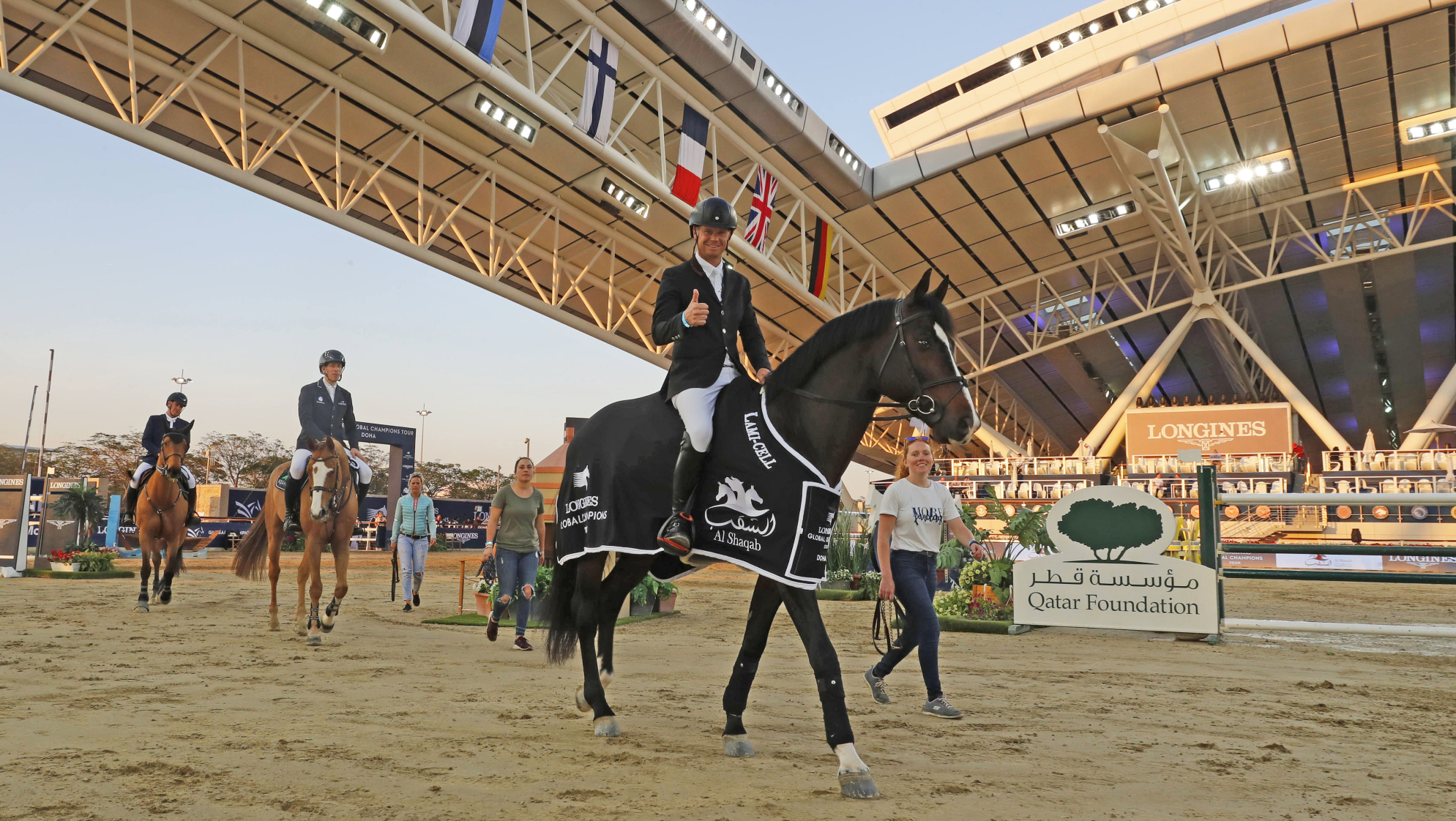 Guery gallops to the win in thrilling speed class at LGCT Doha