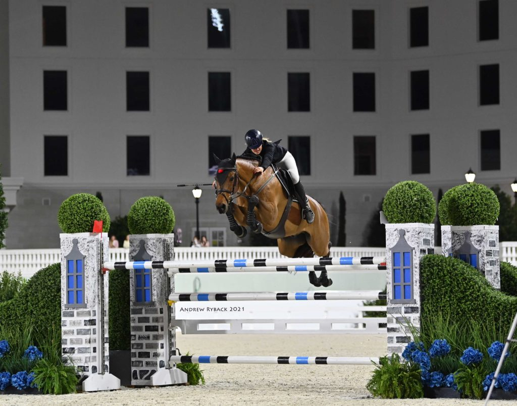 Kristen VanderVeen and Bull Run's Prince of Peace Race to the Win in the $75,000 WEC – Ocala Grand Prix 1.50m