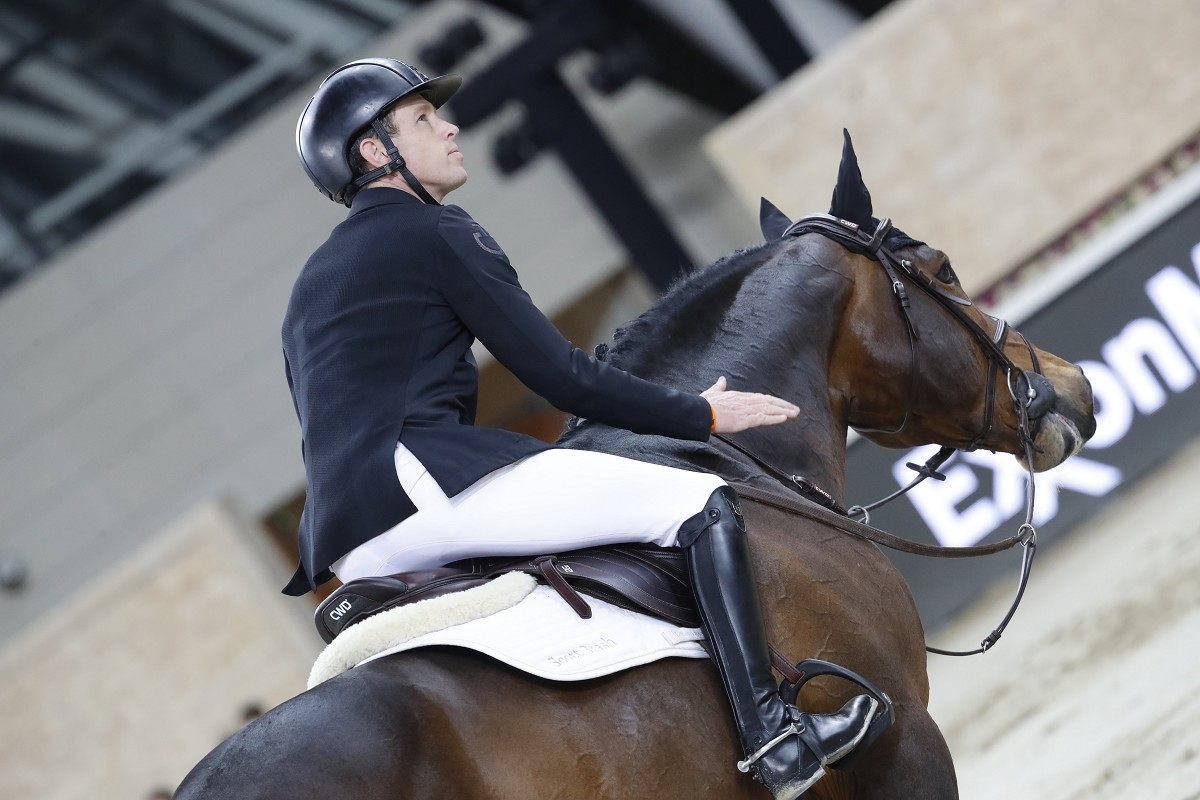 Scott Brash speeds to the victory once again in Doha