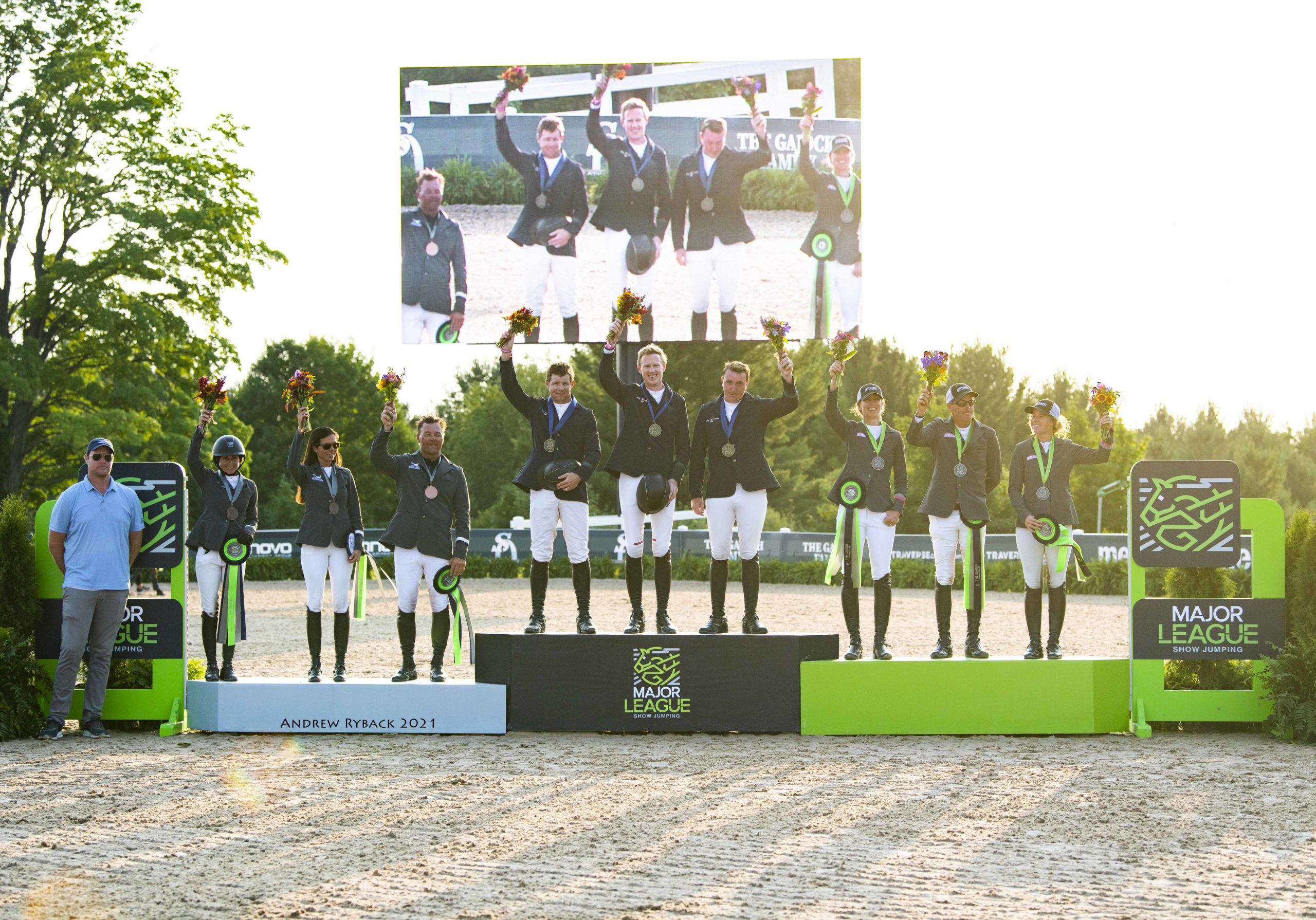Lucky Charms Dominate Major League Show Jumping Team Competition at Lakes Equestrian Festival