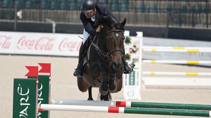 Santiago Lambre and Dingeman Dash to Win the $37,000 Horseware Ireland Welcome Stake CSI 3*