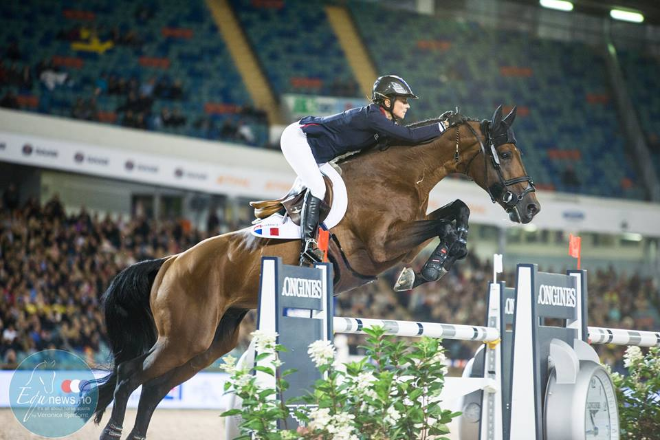 "Penelope Leprevost jumps to victory at the ""Bird's Nest"""