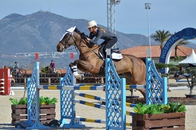 Cassandre Malherbe a commencé le Sevilla Horse winter tour avec une victoire
