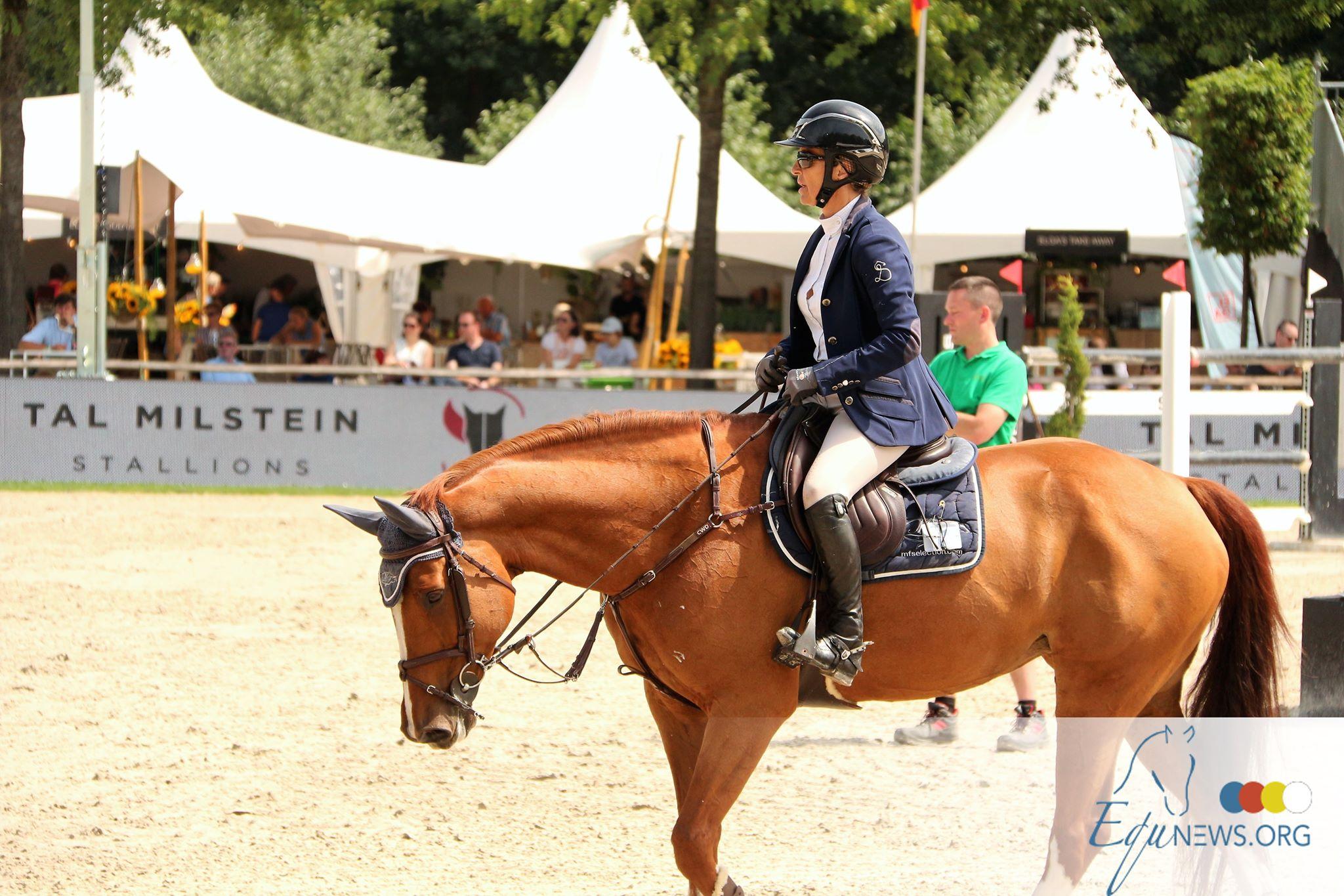 Fabienne Daigneux-Lange remporte le bronze lors la manche du classement Longines d'Oliva
