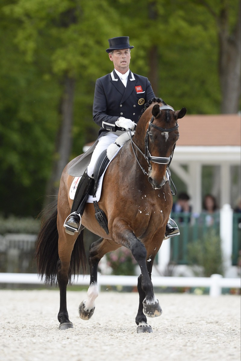 Carl Hester on top in Intermediate Grand Prix Freestyle