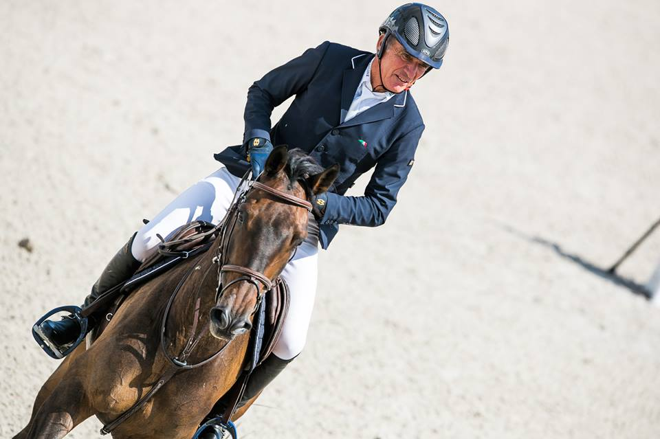Michel Robert claims Longines ranking class of Gorla Minore with Emerette