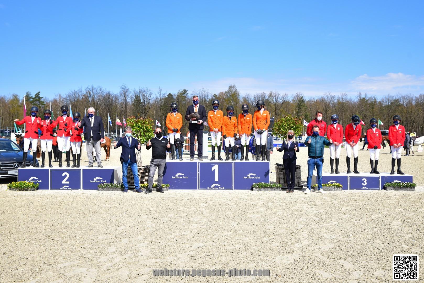 Nederlandse ponyruiters winnen Nations Cup Sentower Park